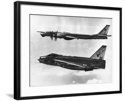 British Fighter Intercepting Soviet Bomber--Framed Photographic Print