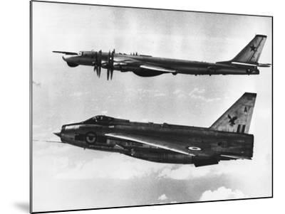 British Fighter Intercepting Soviet Bomber--Mounted Photographic Print