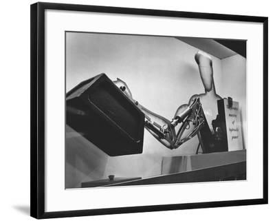 Mechanical Handling Exhibition: an Advertisement for the Exhibition--Framed Photographic Print