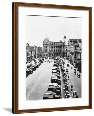 Raffles Square--Framed Photographic Print