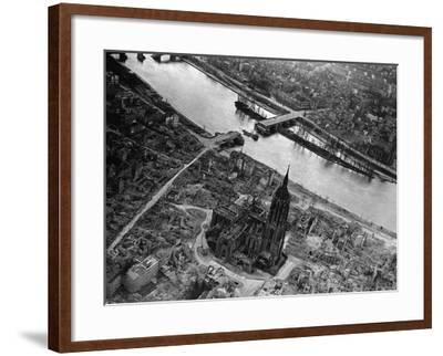 Bomb Damaged Frankfurt, 1945--Framed Photographic Print