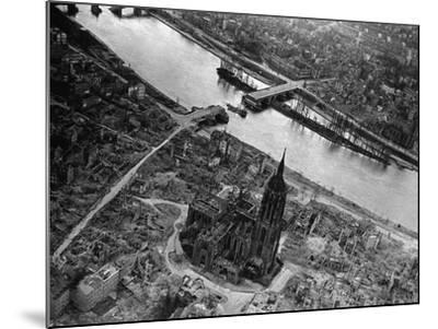Bomb Damaged Frankfurt, 1945--Mounted Photographic Print