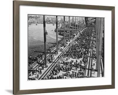 Opening of the Sydney Harbour Bridge--Framed Photographic Print