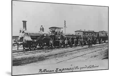 Pullman Express Locomotive--Mounted Photographic Print