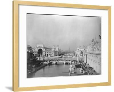 Visitors Strolling at Chicago Exposition--Framed Photographic Print