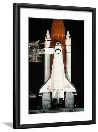 Space Shuttle Illuminated at Night-Roger Ressmeyer-Framed Photographic Print