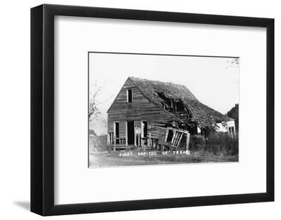 Ruins of First Capitol of Texas--Framed Photographic Print