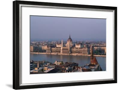 Danube in Budapest-Vittoriano Rastelli-Framed Photographic Print