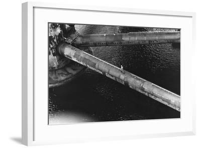 Pipes of an Oil Drilling Platform--Framed Photographic Print