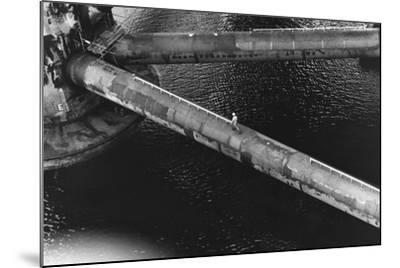 Pipes of an Oil Drilling Platform--Mounted Photographic Print