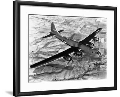 B-29 Flying over Japan's Countryside--Framed Photographic Print