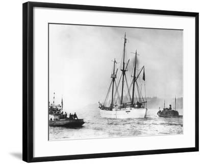 Amundsen's Vessel Returns from the Arctic--Framed Photographic Print