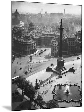 Trafalgar Square, London--Mounted Photographic Print
