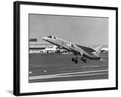 First Flight of Bac Tsr.2--Framed Photographic Print