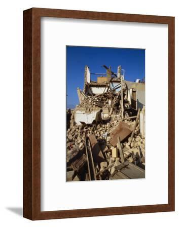 Building Destroyed by Earhquake--Framed Photographic Print
