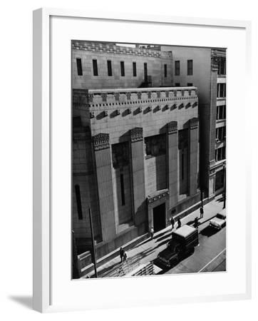 Pacific Coast Stock Exchange--Framed Photographic Print