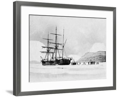 HMS Alert in Arctic Circle--Framed Photographic Print