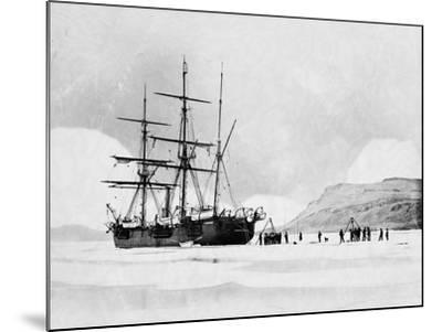 HMS Alert in Arctic Circle--Mounted Photographic Print