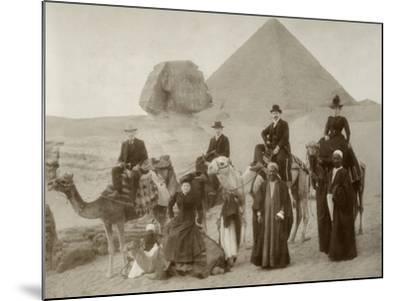 British Tourist Visiting the Pyramids of Giza--Mounted Photographic Print