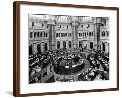 Library of Congress Reading Room--Framed Photographic Print