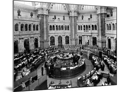 Library of Congress Reading Room--Mounted Photographic Print
