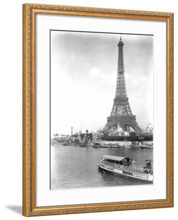River Seine and Eiffel Tower--Framed Photographic Print
