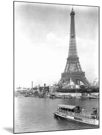 River Seine and Eiffel Tower--Mounted Photographic Print