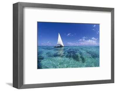 Dhow on Clear Seas-Paul Souders-Framed Photographic Print