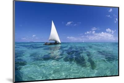 Dhow on Clear Seas-Paul Souders-Mounted Photographic Print