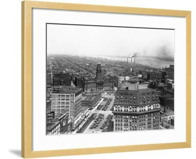 Wayne County Building in Detroit, Michigan--Framed Photographic Print