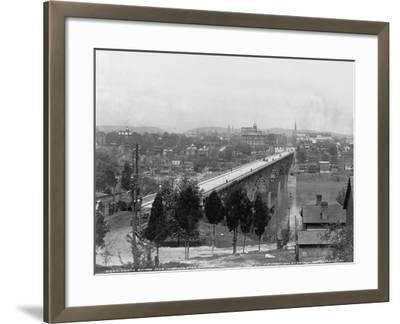 Bridge over Tennessee River in Knoxville--Framed Photographic Print