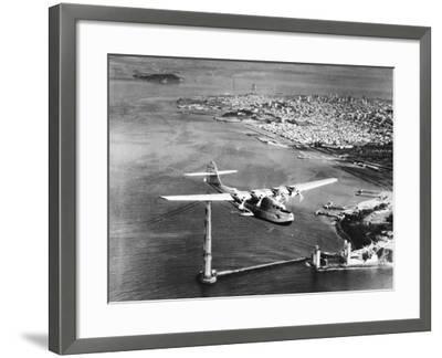 Construction of Golden Gate Bridge--Framed Photographic Print