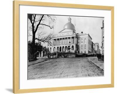 Massachusetts State House-N.L. Stebbins-Framed Photographic Print