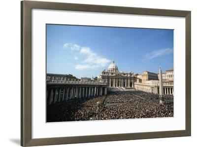 St Peter's Square, October 16th 1978-Vittoriano Rastelli-Framed Photographic Print