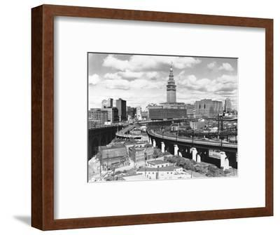 Skyline of Cleveland-Carl McDow-Framed Photographic Print