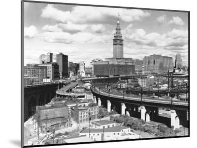 Skyline of Cleveland-Carl McDow-Mounted Photographic Print