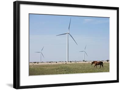 Wind Farm, Vega, Texas-Paul Souders-Framed Photographic Print