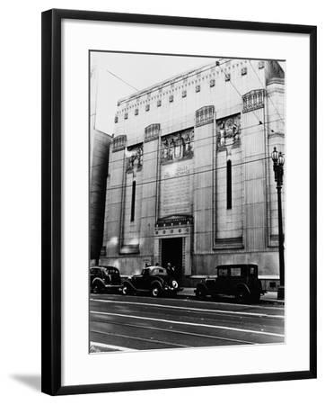 Facade of the Los Angeles Stock Exchange--Framed Photographic Print