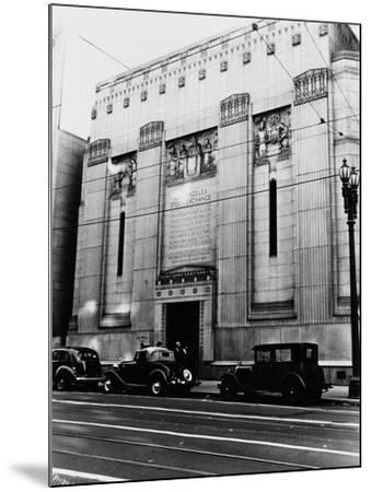 Facade of the Los Angeles Stock Exchange--Mounted Photographic Print