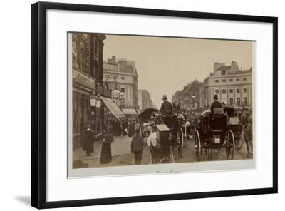 Traffic in Regents Circus-Philip de Bay-Framed Photographic Print