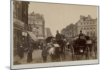 Traffic in Regents Circus-Philip de Bay-Mounted Photographic Print