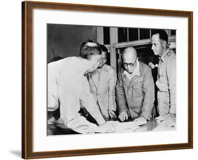 General Yamashita and Military Colleagues--Framed Photographic Print