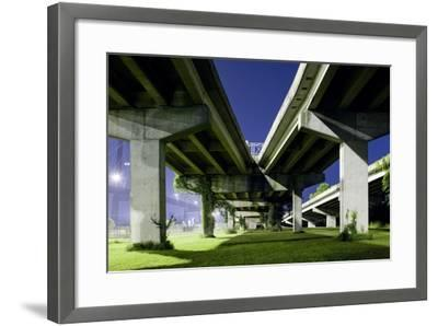 Highway Overpass at Night-Paul Souders-Framed Photographic Print