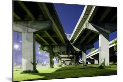 Highway Overpass at Night-Paul Souders-Mounted Photographic Print