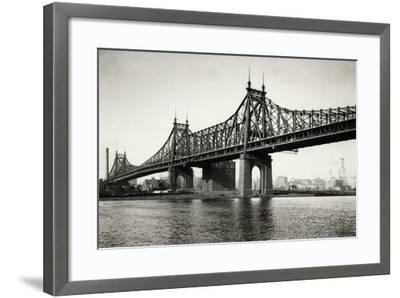 General View of the Queensboro Bridge--Framed Photographic Print