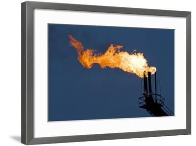 Natural Gas Flare-Paul Souders-Framed Photographic Print