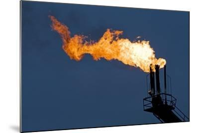 Natural Gas Flare-Paul Souders-Mounted Photographic Print