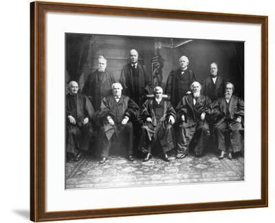 Portrait of the 1888 Supreme Court-C.M. Bell-Framed Photographic Print