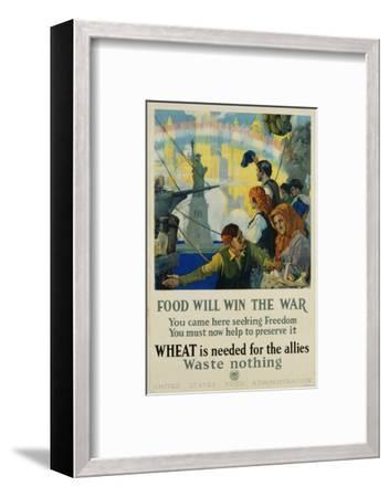 Food Will Win the War Poster-Charles Edward Chambers-Framed Photographic Print