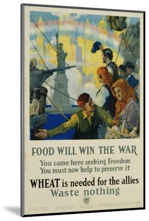 Food Will Win the War Poster-Charles Edward Chambers-Mounted Photographic Print